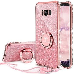 Galaxy S8 Rose Gold Phone Case w/ Kickstand